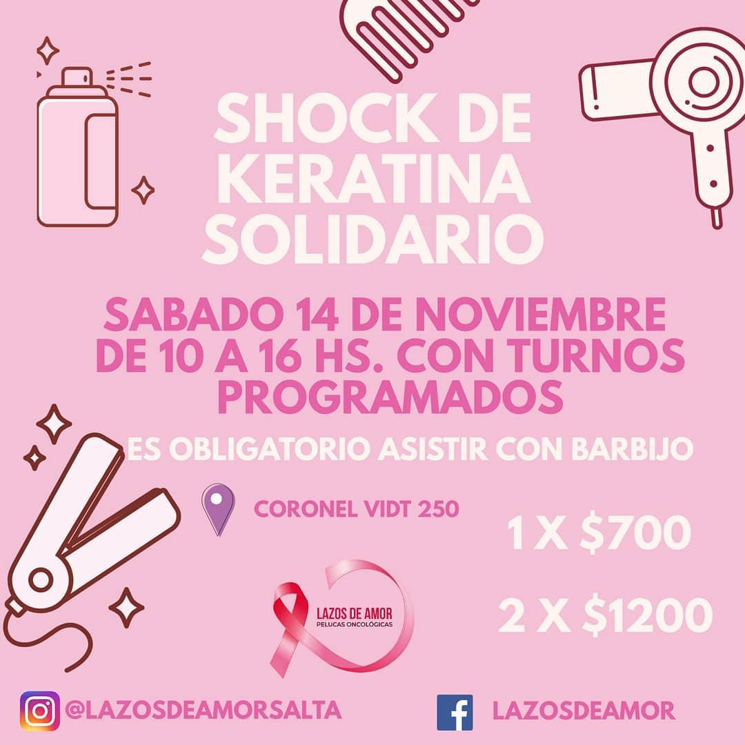 """Se viene el """"1° Shock de Keratina Solidario"""""""