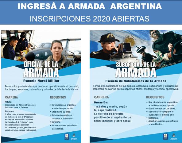 Están abiertas las inscripciones para el ingreso a la Armada Argentina