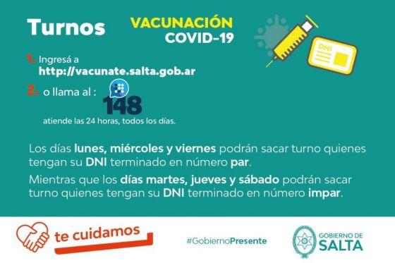 Vacunación COVID-19: Se reanudaron los turnos para mayores de 70 años y por terminación de DNI