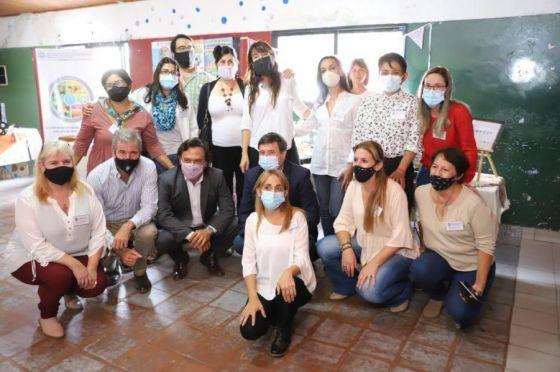 Sáenz y Arroyo visitaron el emprendimiento socioproductivo María Auxiliadora