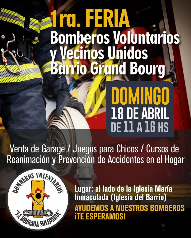 Primera Gran Feria organizada por Bomberos Brigada Solidaria