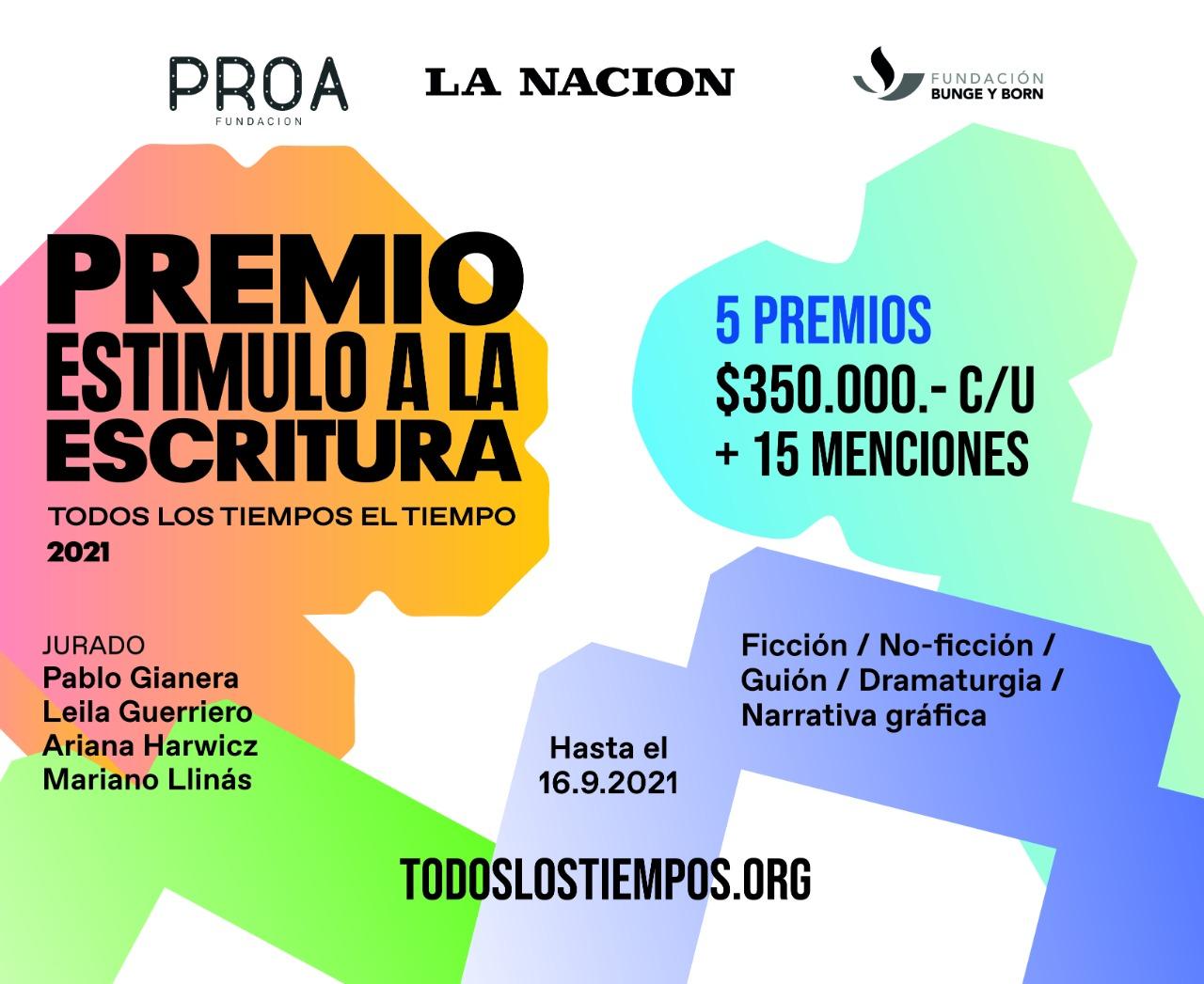 Convocatoria a la segunda edición del Premio Estímulo a la Escritura