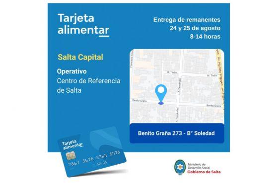 Tarjetas Alimentar: entregarán en Salta capital las que no fueron retiradas el día asignado