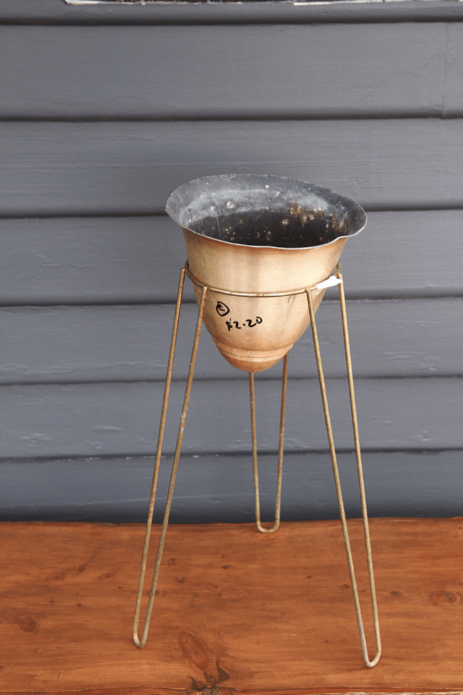 Hairpin mid-century plant stand