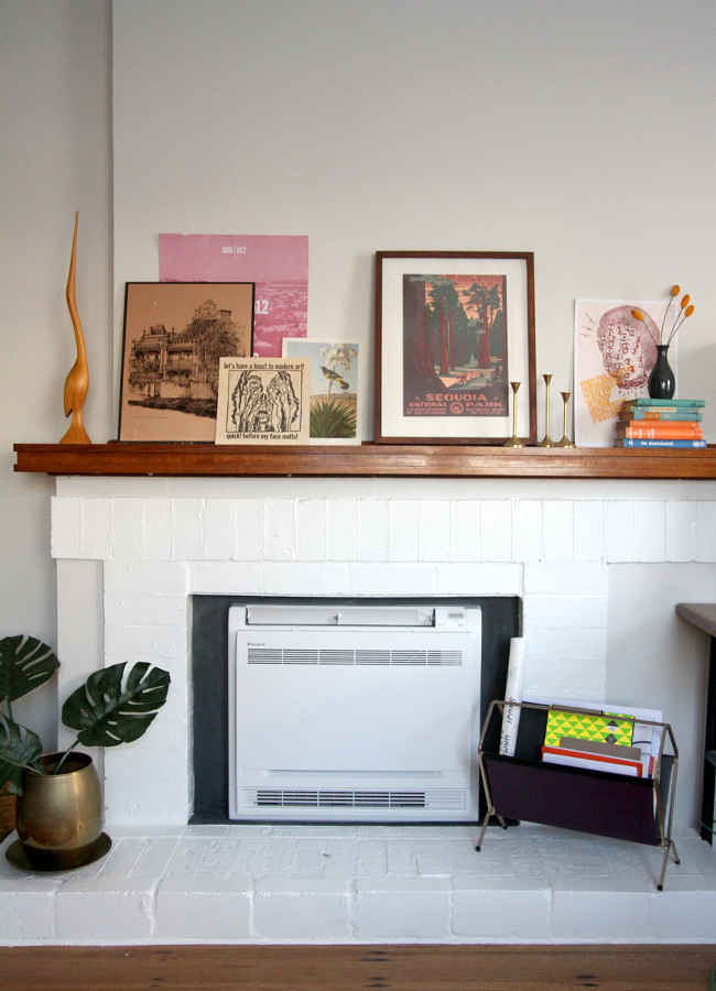 Complete fireplace makeover