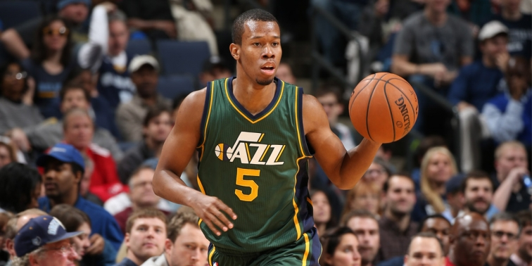Sweet-shooting Rodney Hood could be a major factor for Utah's success this season. (NBAE/Getty Images)