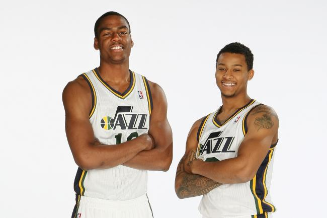 Alec Burks and Trey Burke have been among the Jazz's most consistent performers early on. (Melissa Majchrzak/Getty Images)