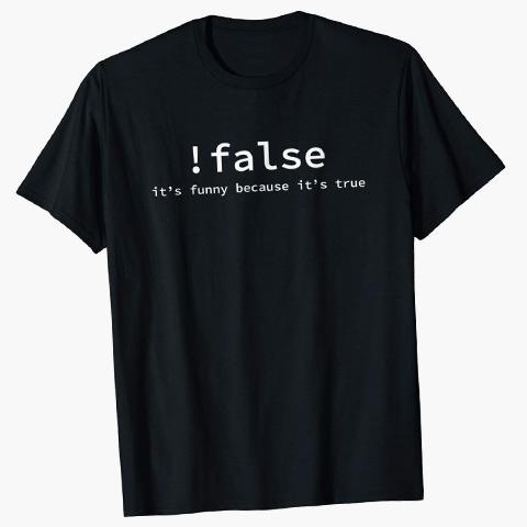 false shirt for programmers - Christmas ideas from SALT Community