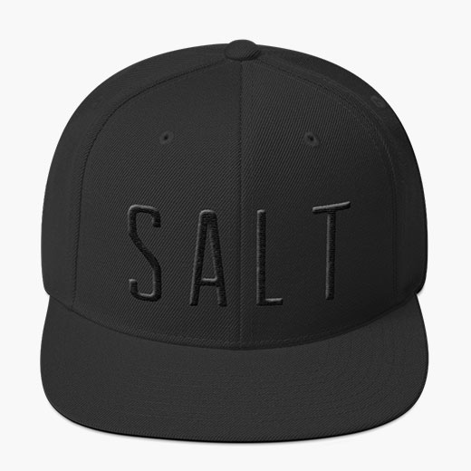 SALT Flat Bill Hat - Black embossed