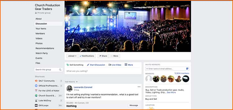 Facebook Groups - Used Production equipment websites