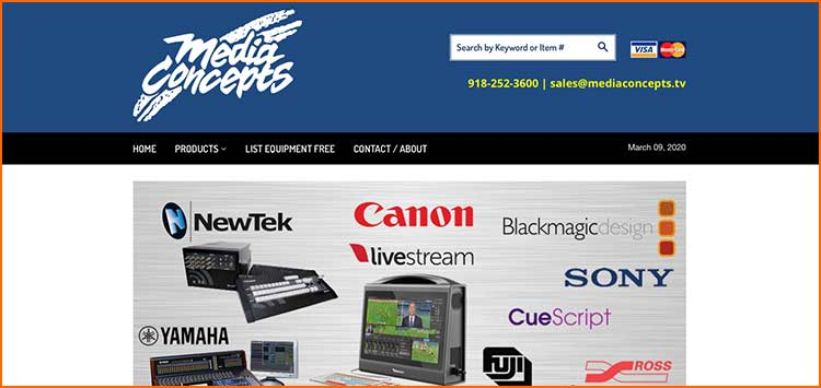 Media Concepts - Used Production equipment websites