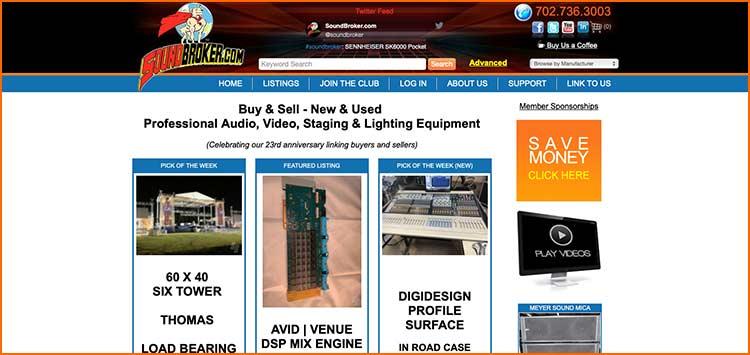 Sound Broker - Used Production equipment websites