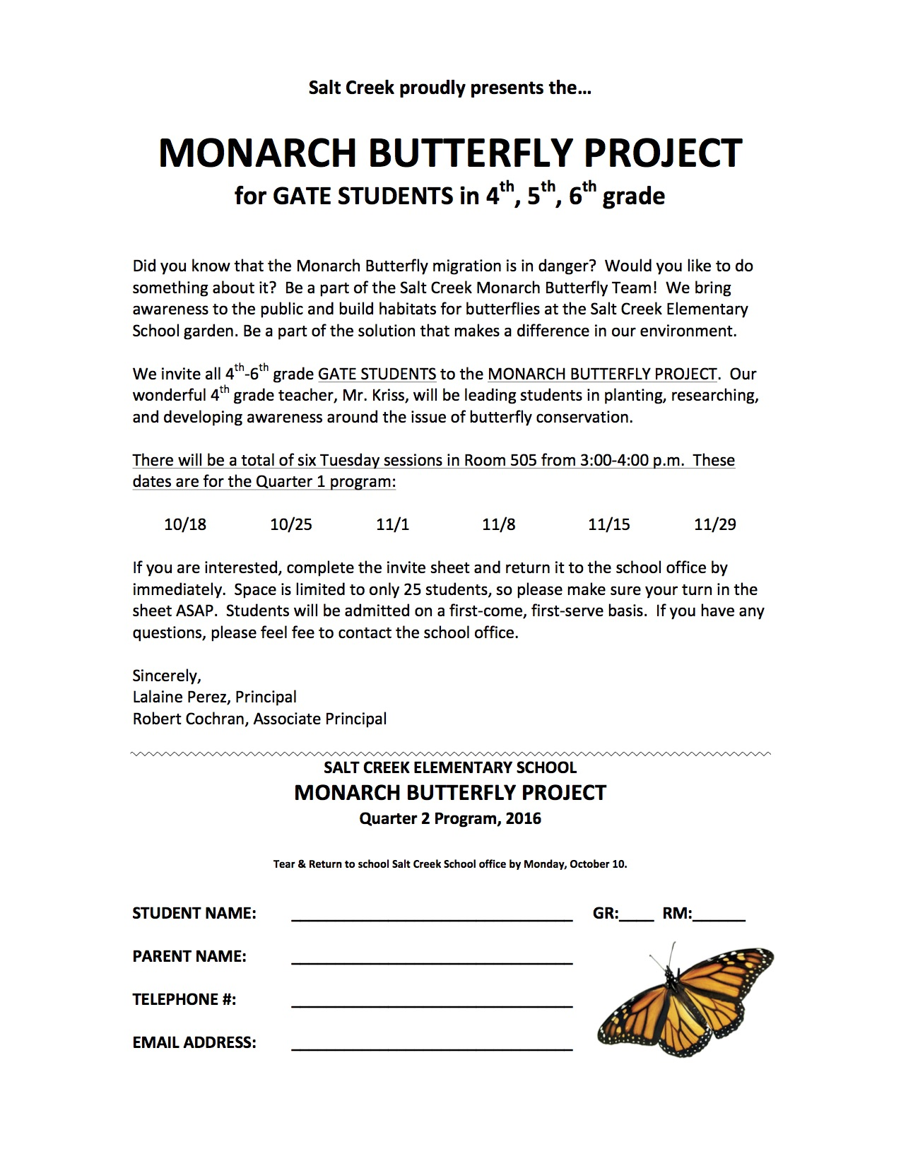 Gate Monarch Butterfly Project For Quarter 2