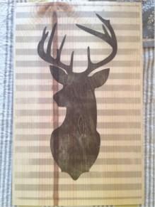 Modern Deer Silhouette