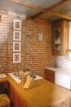 Before: Gorgeous exposed brick - We wanted this to stay!