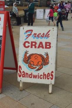 Fresh crab sandwiches