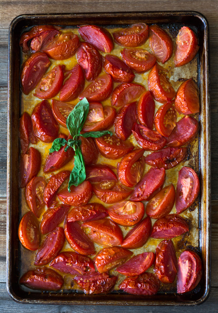 Roasted tomatoes are pungent with flavor.