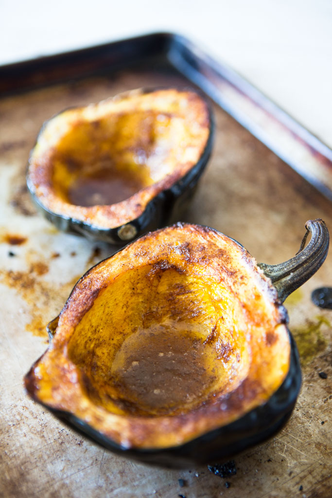 Protein-Packed acorn Squash Boats - the ideal holiday side dish.