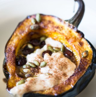 Packed with protein and and vitamins A and C, Acorn Squash Breakfast Boats only look and taste like dessert.
