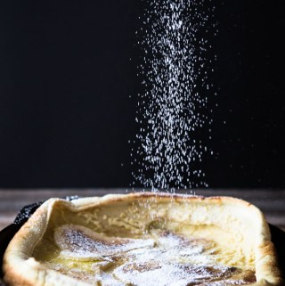 Dutch Baby Pancake With Spiced Pears