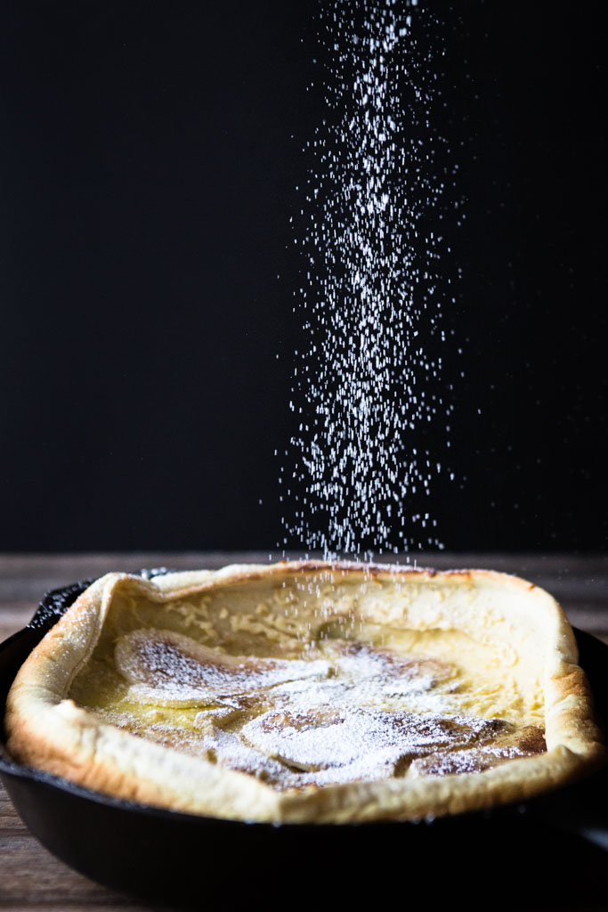 Serve this easy and delicious Dutch Baby with Spiced Pears for breakfast or dessert.