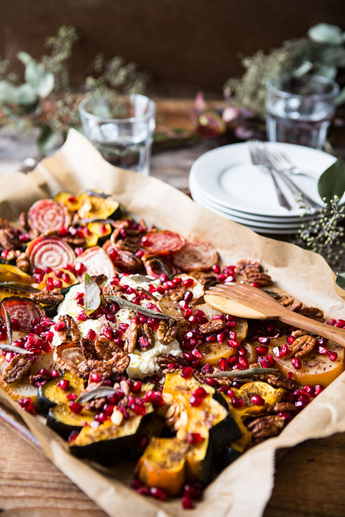 This Favorite Holiday Nosh Platter With Spiced Pecans is a beautiful welcome for holiday dinner guests.