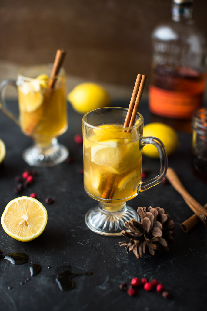 Sit back and revel in the coziness of winter with this gorgeous Muddled Maple Hot Toddy. Cheers!