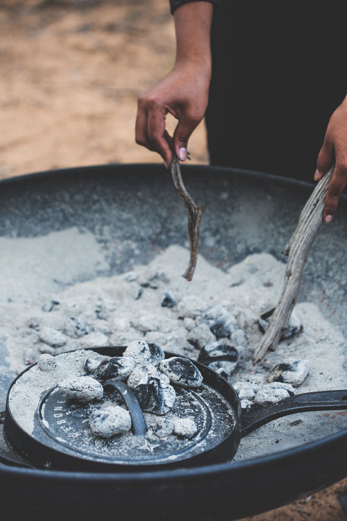 Cooking over coals while camping is so rewarding, both in the process and the resulting, delicious meals.