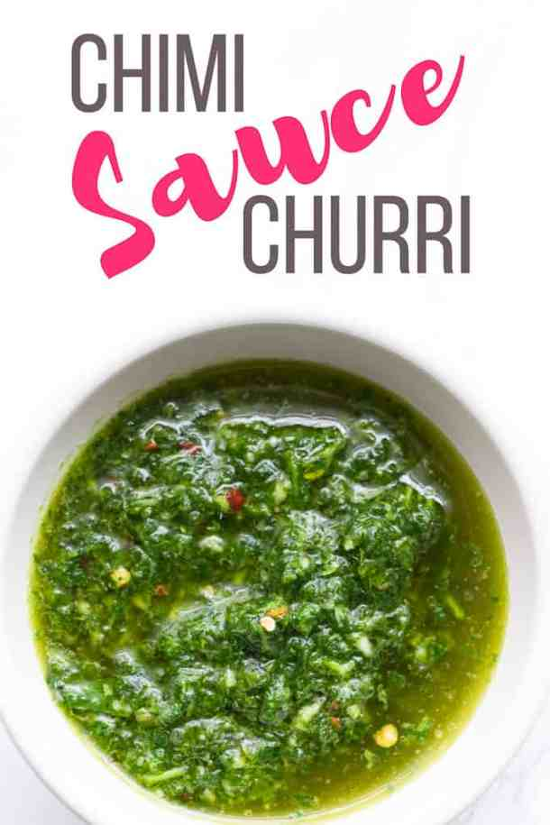 Chimichurri Sauce is a healthy and easy to make green sauce, bursting with flavour. A South American staple that pairs perfectly with for steak or chicken.