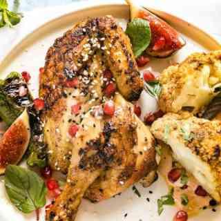 Moroccan Grilled Chicken And Cauliflower