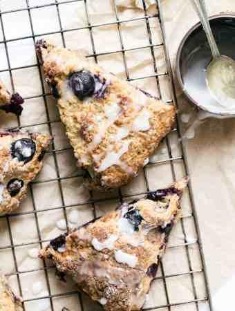 Grab and Go Blueberry Buttermilk Breakfast Scones