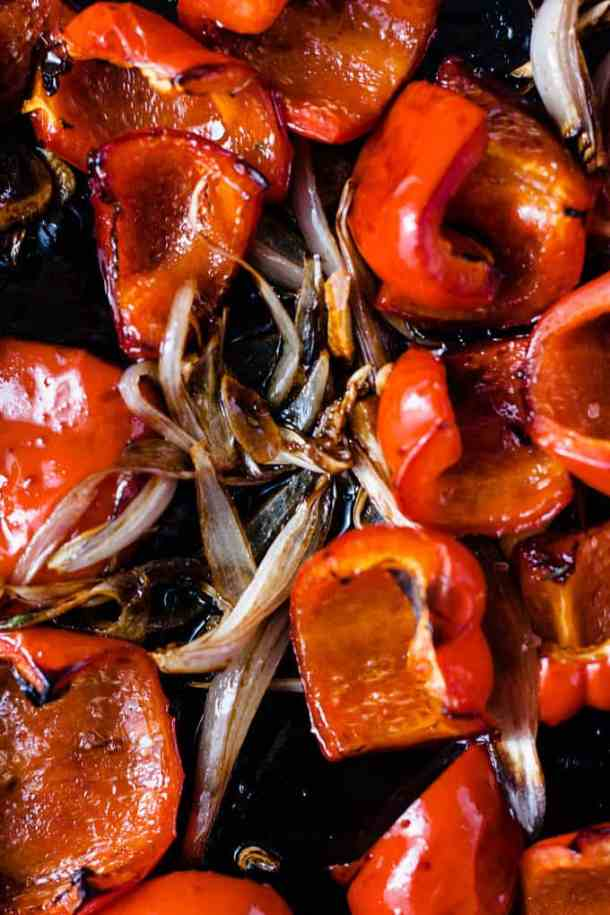 """This is a luscious sweet, savoury and a little smokey red pepper sauce only takes about 20 minutes. It also happens to be the perfect stand in for any tomato or """"red sauce"""" that you could need."""