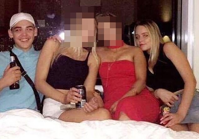 Henderson (far right) was close friends with Brayden Dillon (far left) who was gunned down in his sleep in a high-profile incident in 2017