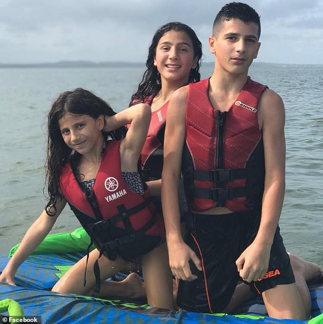 Davidson pleaded guilty to the manslaughter of Veronique and Sienna Abdallah, 8, and her siblings Angelina, 12, and Antony, 13 (Abdullah siblings pictured)