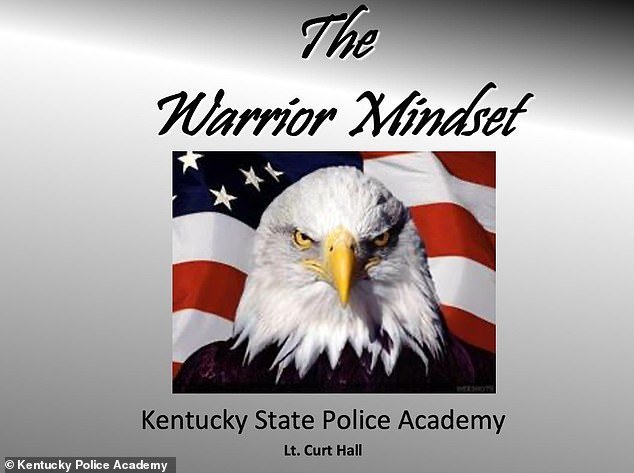 According to an investigation by Manual Red Eye, the quotation was included in a presentation called 'The Warrior Mindset', which was shown to new recruits prior to 2014