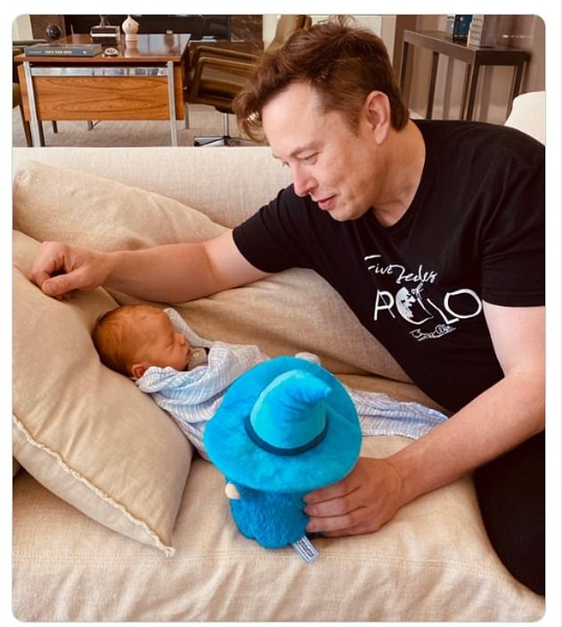 Tesla Chief Executive Elon Musk jumped into second spot on the list with $155B, up from 31st last year. He's pictured with his babyX Æ A-12, which he had with musician Grimes.