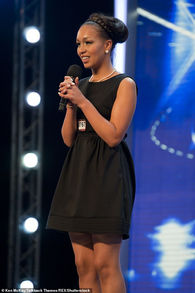 Way back when: Rebecca found fame in 2010 when she became the runner-up of the seventh series of The X Factor, losing out to Matt Cardle (pictured on The X Factor in 2010)