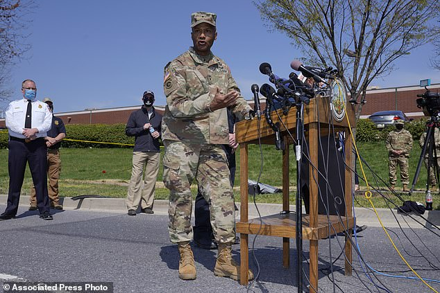 Brigadier Gen Michael Talley confirmed that base personnel attempted to search Woldesenbet before he sped past them in his personal vehicle