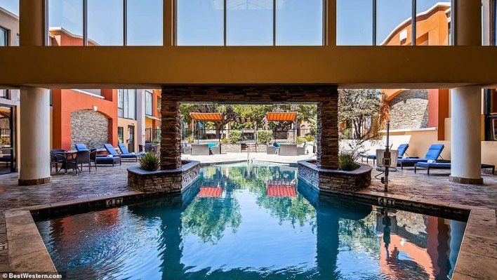 EL PASO: The covered portion of the pool area at the El Paso Best Western