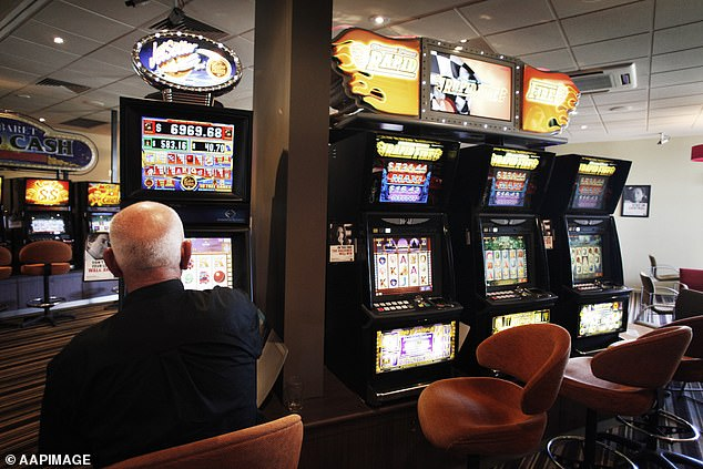 Pubs and clubs in NSW earned more money from poker machines in the second half of 2020 than they did before the pandemic struck, despite the number of machines falling by more than 2,000 statewide (stock image)