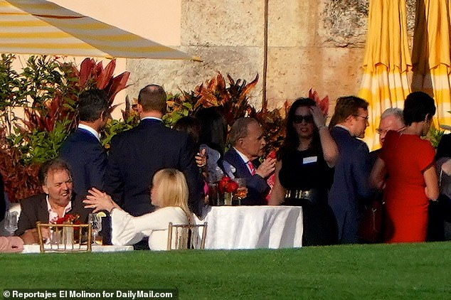 Larry Kudlow is seen at Mar-a-Lago during a party for the Conservative Partner Institute on Thursday