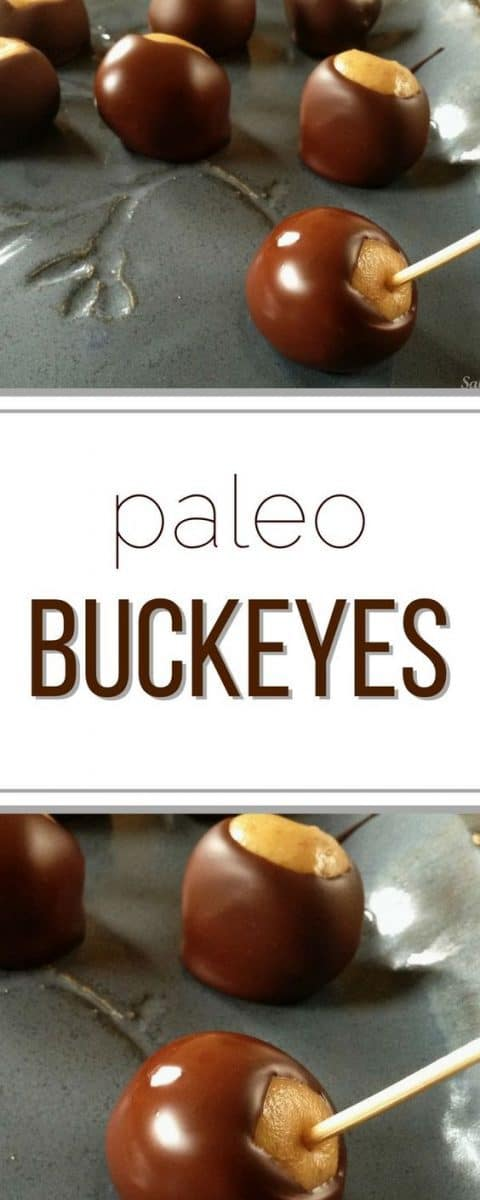 Best ever Paleo Buckeyes recipe! Totally amazing!
