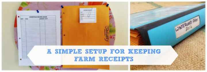 keeping farm receipts