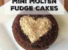 paleo mini molten fudge cakes