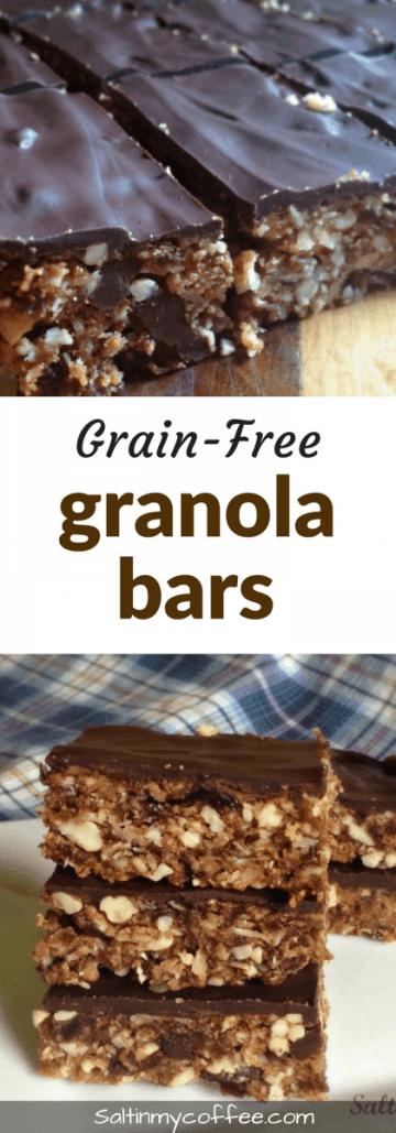 grain-free granola bars, paleo, and gluten-free