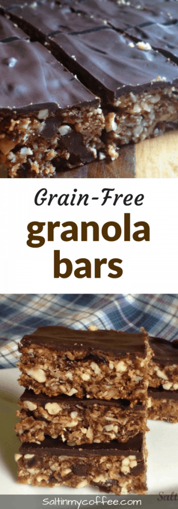 grain-free granola bars, paleo, and gluten-free