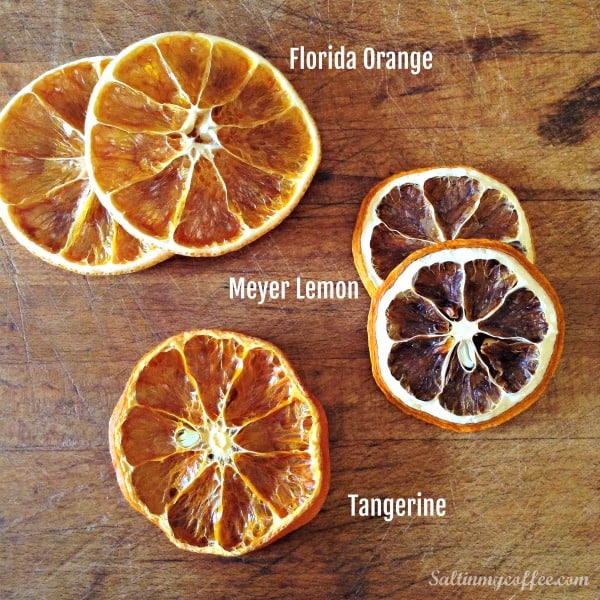 how to dehydrate different kinds of citrus fruit