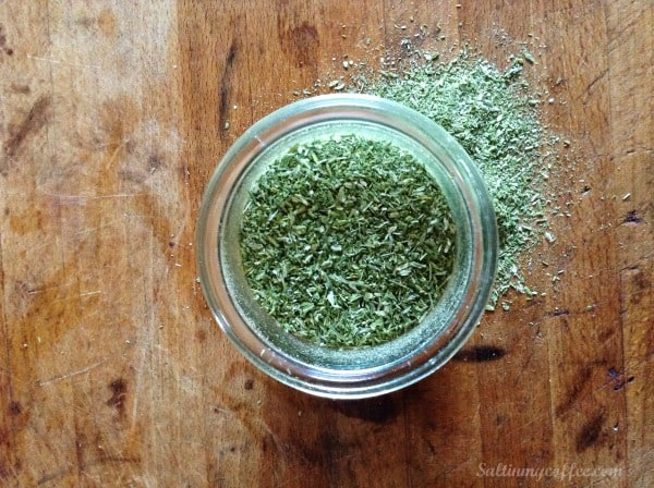 how to make leek powder from leftover green parts