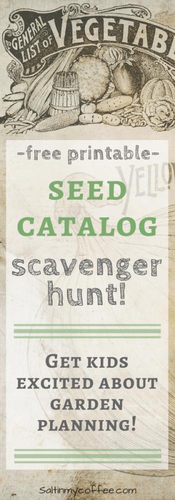 seed catalog scavenger hunt