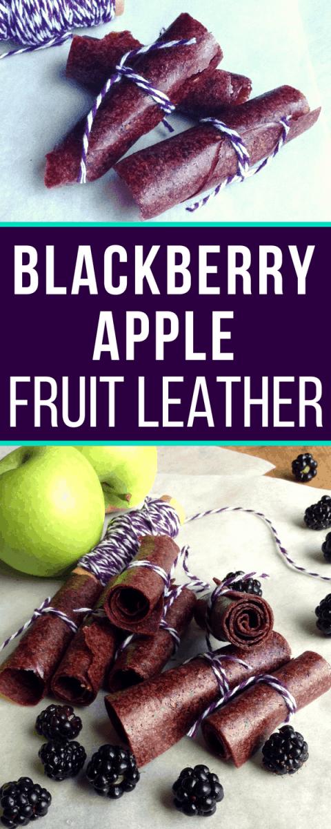 blackberry apple fruit leather recipe